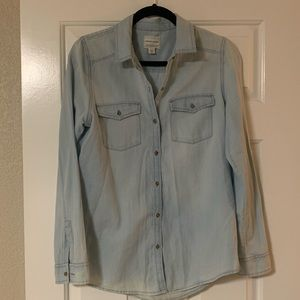 Melrose and Market Long Sleeve Button Down Top